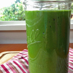 Tropical Green Smoothie Finished with Ingredients. This is so yummy and good for you. And it super easy to make. | tiaskitchen.com/tropical-green-smoothie