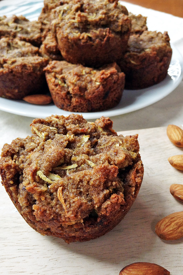 These Zucchini Muffins are gluten-free, egg-free, dairy-free, yeast-free and super easy to make. | tiaskitchen.com/zucchini-muffins-gluten-free-dairy-free-yeast-free/