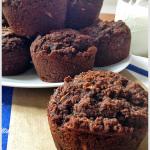 Chocolate Chocolate Chunk Zucchini Muffins | tiaskitchen.com