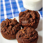 Chocolate Chocolate Chunk Zucchini Muffins are super yummy. | tiaskitchen.com