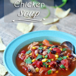 Fast and easy soup to make when in a time crunch. Southwest Chicken Soup Recipe | http://tiaskitchen.com/southwest-chicken-soup-recipe/