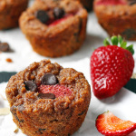 Strawberry Banana Chocolate Chip Muffins (Gluten Free, Dairy Free, Vegan) | tiaskitchen.com
