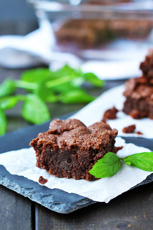Yummy, fudge-y, amazing brownies are gluten free, dairy free and vegan. YES, they are!   tiaskitchen.com/chocolate-mint-brownies-gluten-free-dairy-free-vegan
