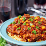 Slow Cooker Spaghetti Sauce. It's quick, easy and Kid Friendly, as well as a great gluten free recipe. | tiaskitchen.com/quick-easy-slow-cooker-spaghetti-sauce-veggies-gluten-free-dairy-free-kid-friendly