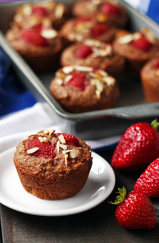 "Strawberries and ""Cream"" Muffins are so smooth and sweet. A great breakfast or snack. 