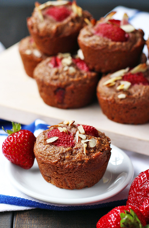 "Strawberries and ""Cream"" Muffin Recipe (Gluten Free, Dairy Free, Vegan)"