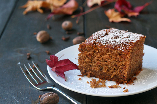 Amazing Applesauce Cake is too good. You won't believe it is gluten-free, dairy-free AND vegan. | tiaskitchen.com/gluten-free-vegan-applesauce-cake