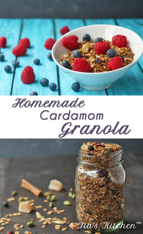 Homemade Granola with title and Tia's Kitchen