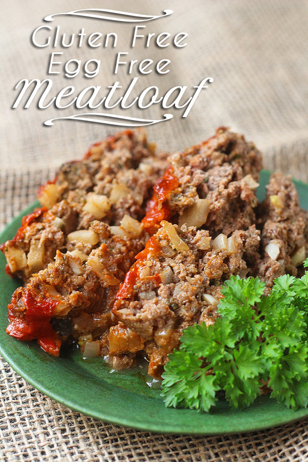 This GREAT tasting eggless, gluten free meatloaf makes a wonderful dinner. Especially if you have to avoid eggs and gluten. | tiaskitchen.com/eggless-gluten-free-meatloaf