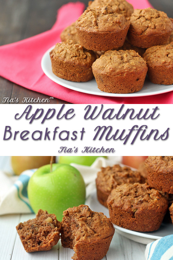 Apple Walnut Breakfast Muffins – Gluten Free, Vegan Recipe