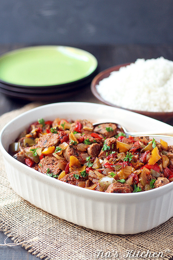 Slow Cooker Sausage and Peppers